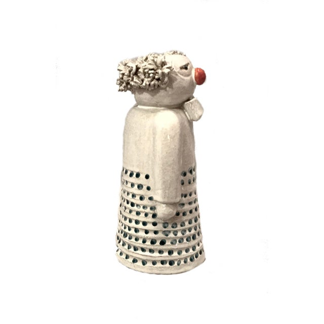 Mid Century Signed Studio Pottery Clown For Sale In Los Angeles - Image 6 of 8