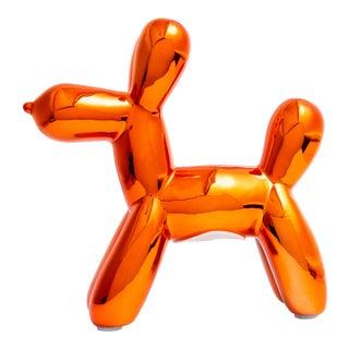"""Interior Illusions Plus Copper Mini Balloon Dog Bank 7.5"""" tall For Sale"""