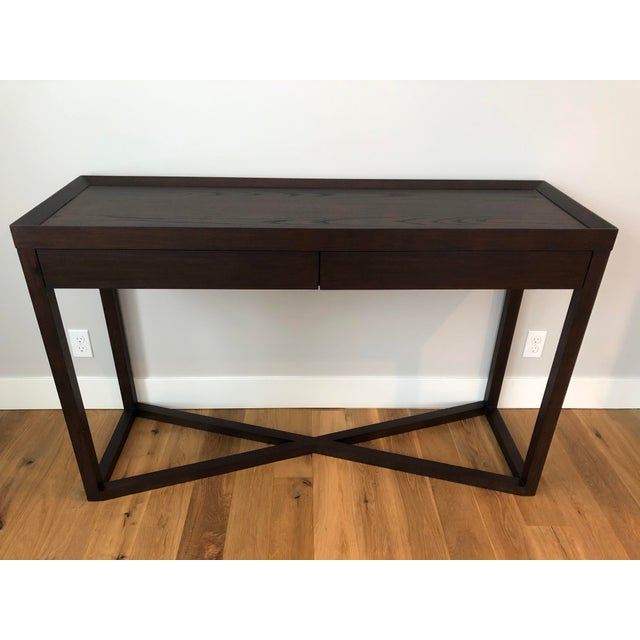 Contemporary Modern Calvin Klein Console Table With Storage For Sale - Image 3 of 12