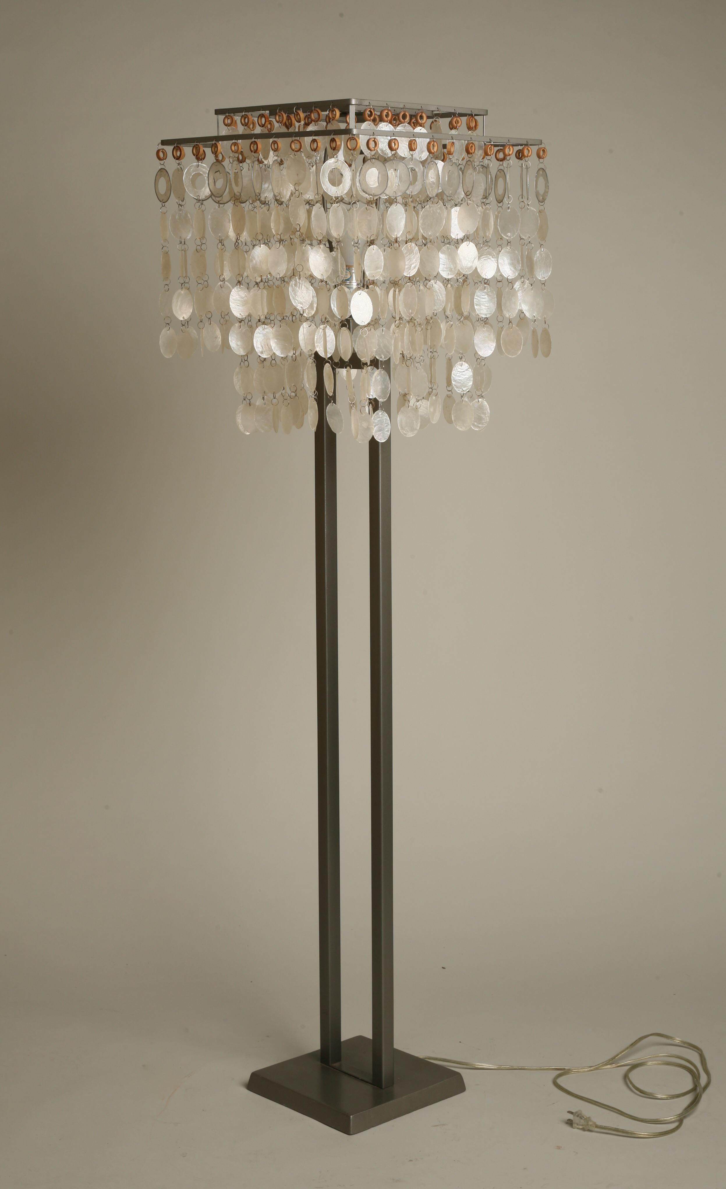 Mid Century Modern Capiz Shell Floor Lamp Chairish