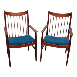 Danish Modern Armchairs - a Pair For Sale