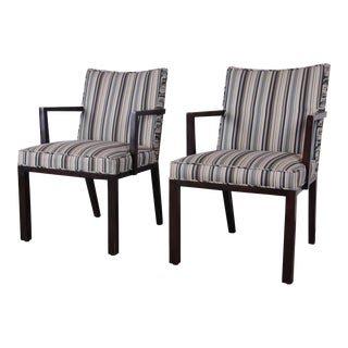 Edward Wormley for Dunbar Mahogany Club Chairs, Pair For Sale