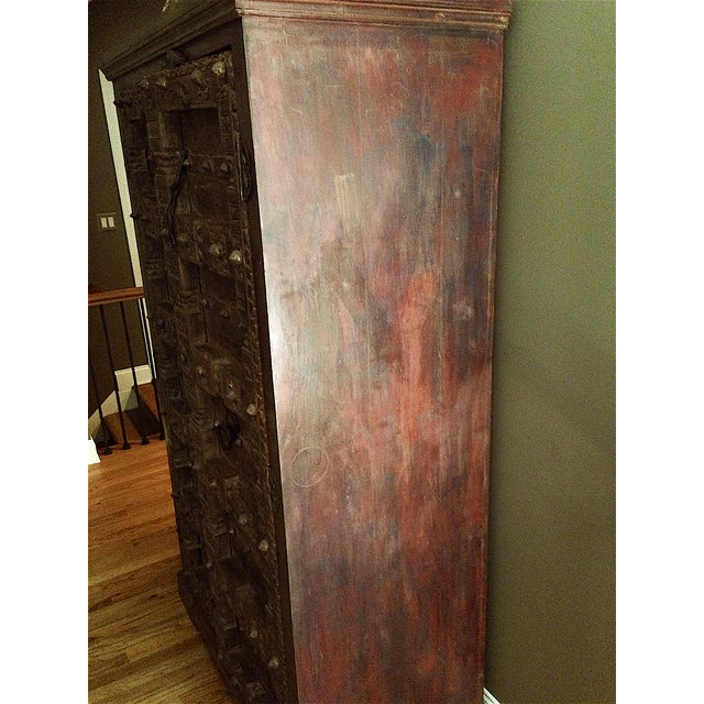Vintage Hand-Carved Armoire - Image 4 of 4