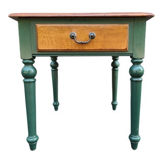 Ethan Allen Country Crossings Solid Maple 1 Drawer Side Table For Sale