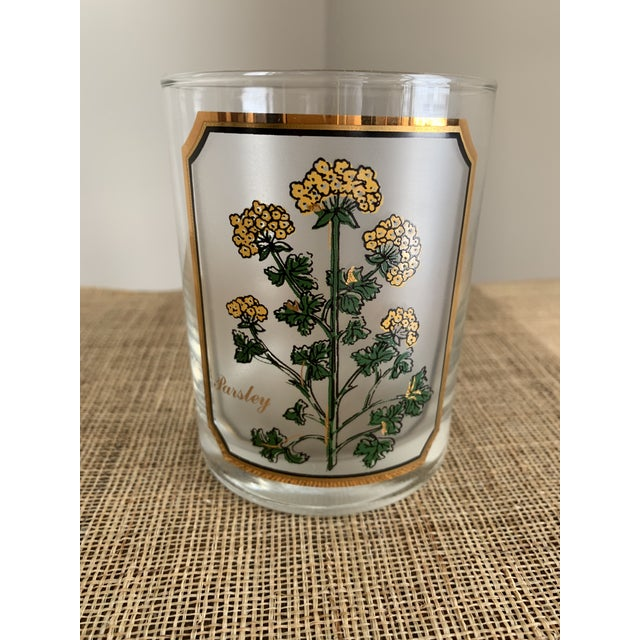 Art Deco 1950s Vintage Culver 'Thyme & Parsley' Old Fashion Glasses - a Pair For Sale - Image 3 of 12
