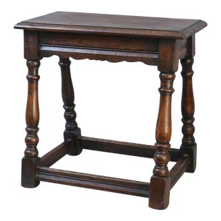 19th-Century Oak Joint Stool