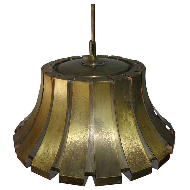 Elio Martinelli Italian Brass Pendant - Image 1 of 5