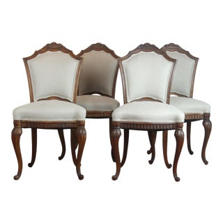 Late 19th Century Antique French Accent Chairs - Set of 4 For Sale