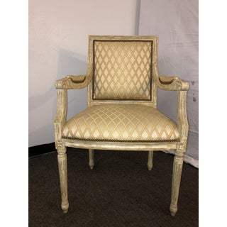 Vintage Mid Century Louis XVI Arm Chairs- A Pair Preview