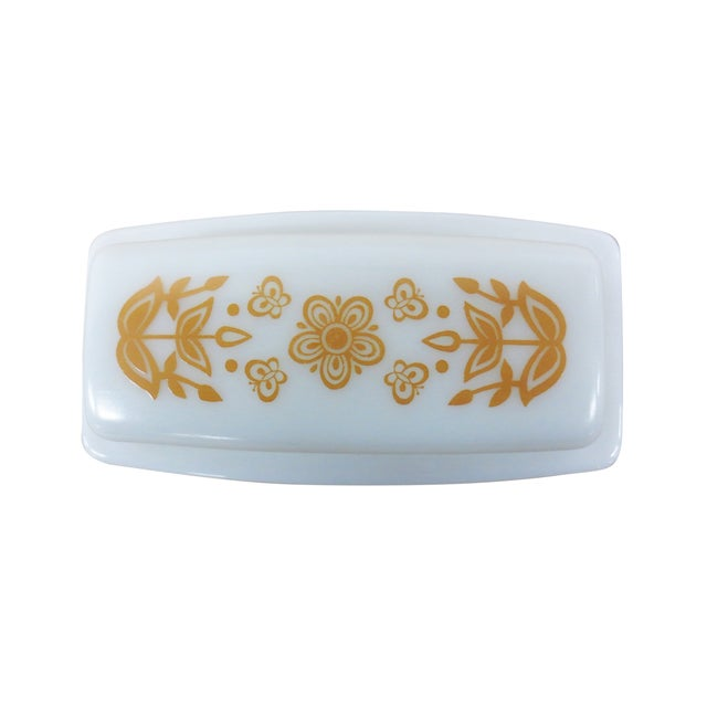 Pyrex Vintage Milk Glass Covered Butter Dish - Image 4 of 7