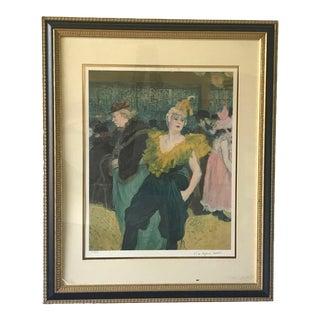 Henri De Toulouse-Lautrec Original Lithograph, the Clowness at the Moulin Rouge For Sale