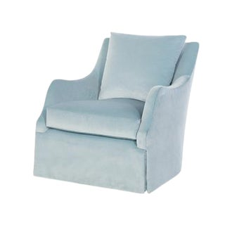 Highland House Finnigan Skirted Swivel Chair For Sale