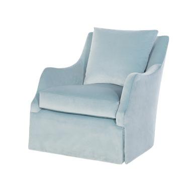 Highland House Finnigan Skirted Swivel Chair For Sale