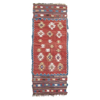 Fethyie Kilim Rug - 4′7″ × 11′7″ For Sale