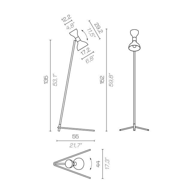 Contemporary Contardi Tata Floor Lamp W/ Black Diffuser For Sale - Image 3 of 4