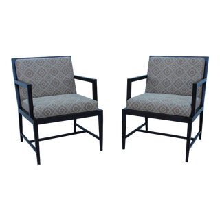 Modern Contemporary Hickory Business Furniture HBF Guest Armchairs- A Pair For Sale