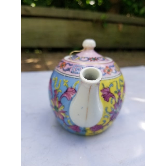 Antique Pastel Russian Teapot for One For Sale - Image 4 of 7