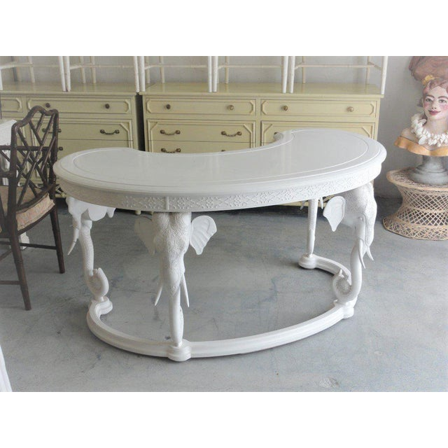 Wood Gampel Stoll Fretwork Elephant Desk For Sale - Image 7 of 13