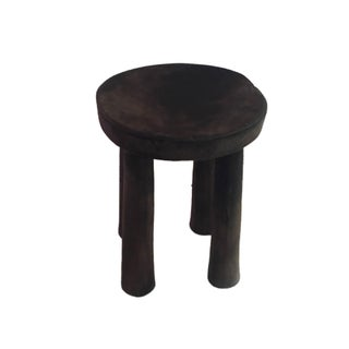 "African Senufo Wood Kids Milk Stool I . Coast 9.75"" W by 12"" H Preview"
