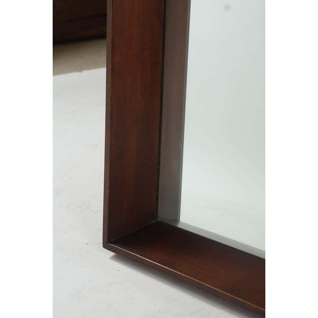 Wood Gilbert Rohde for Herman Miller Square Heavy Walnut Frame 1940s Wall Mirror For Sale - Image 7 of 10