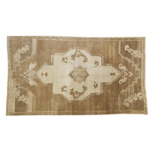 Vintage Distressed Oushak Carpet - 5' X 8'10""