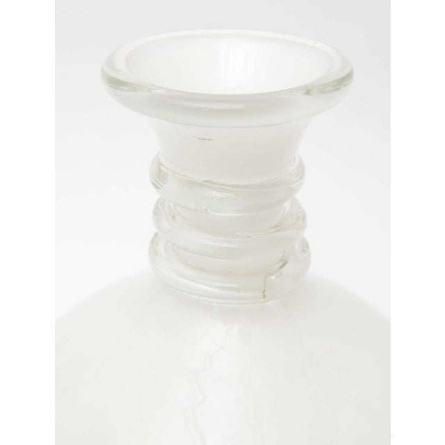 Glass Fine Pair Italian Glass Decanters, Seguso, Murano For Sale - Image 7 of 9