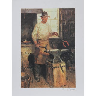 Duane Bryers, the Blacksmith, Lithograph For Sale