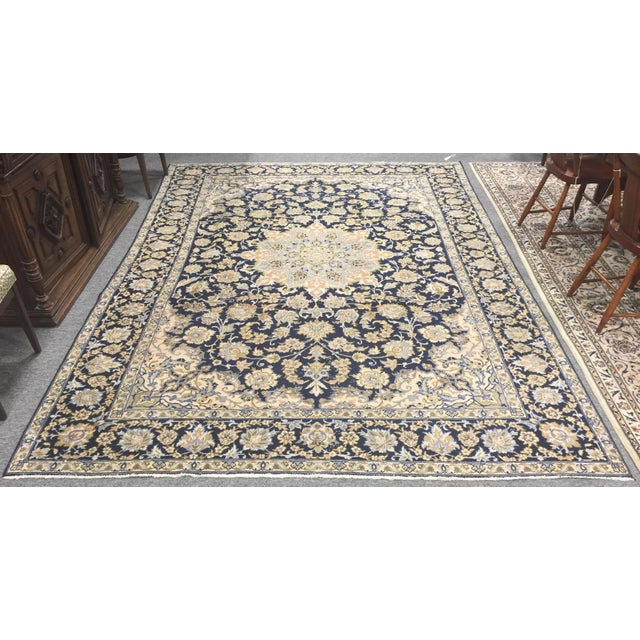 "Vintage Tabriz Rug 10' 9.5""x7' 10"" For Sale - Image 10 of 10"
