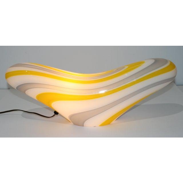 Glass Mid-Century Modern Seguso Vetri d'Arte Table Lamp For Sale - Image 7 of 10