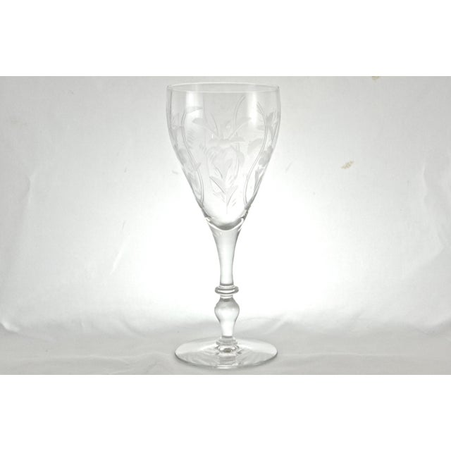 1960s Cut-Crystal Wine Glasses - Set of 8 - Image 4 of 5