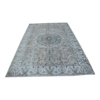 "Vintage Turkish Handmade Oriental Design Rug-6'5x9'5"" For Sale"