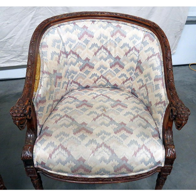 Regency Style Club Chairs - a Pair For Sale In Philadelphia - Image 6 of 13