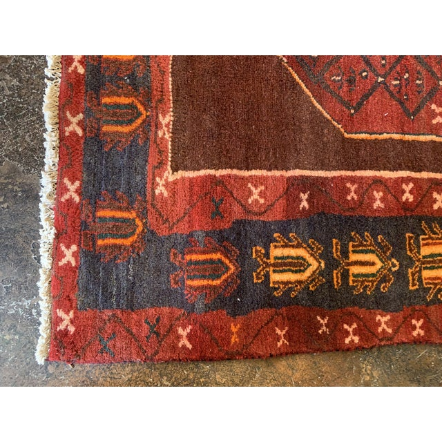 "Hand-Tied Red Persian Kolia Rug 4'11 X 8'10"" For Sale - Image 9 of 13"