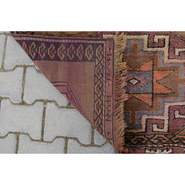 Hand Knotted Turkish Runner Rug - 3′7″ × 11′9″ - Image 9 of 9