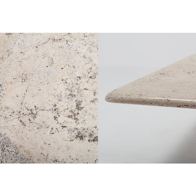 Mangiarotti Square Travertine Coffee Table for Up & Up For Sale - Image 6 of 9