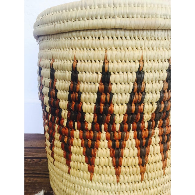 Large Vintage Coil Basket or Hamper - Image 5 of 6