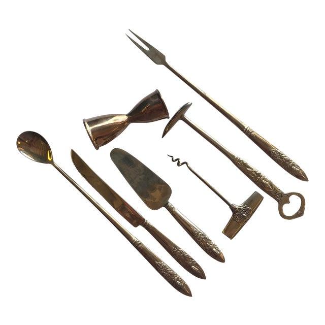 Vintage Bar Tools, Set of 7 For Sale