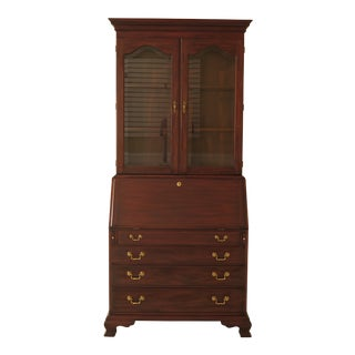 Chippendale Henkel Harris Mahogany Secretary Desk For Sale