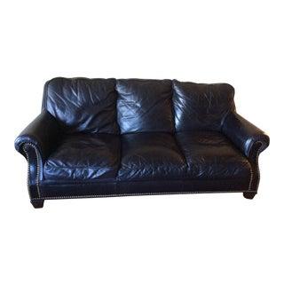 Classic Leather Inc. Black Leather Sofa