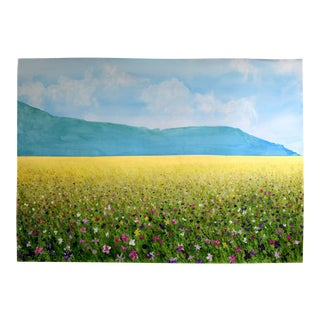 Sunrise on Flowering Field - Geoff Greene Painting For Sale