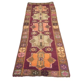 1960s Vintage Anatolian Rug - 5′5″ × 13′7″ For Sale
