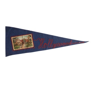 Vintage Hollywood Felt Flag Pennant
