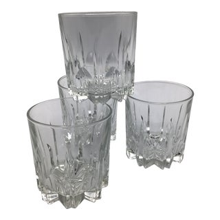Vintage Italian Crystal Whiskey/Scotch Glasses - Set of 4 For Sale