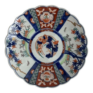 Imari Charger Hand Painted Plate For Sale