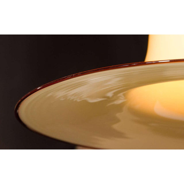 Orange Mid-Century Murano Glass Pendant Chandelier by Seguso For Sale - Image 8 of 10