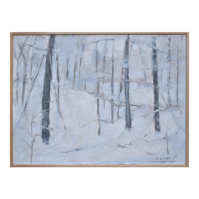 "Modern ""Snow Squall"" Contemporary Painting by Stephen Remick For Sale"