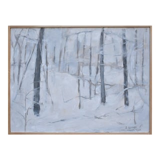 """""""Snow Squall"""", Contemporary Painting by Stephen Remick For Sale"""