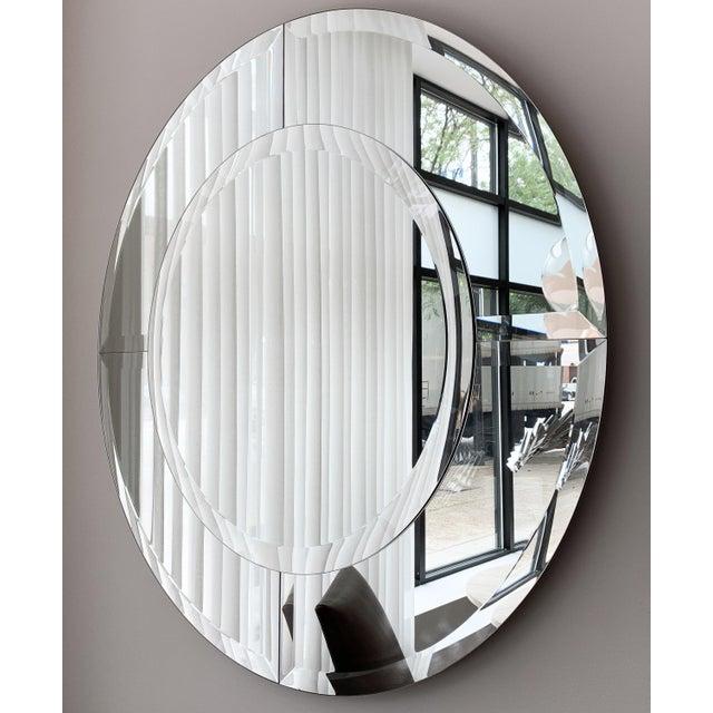 Karl Springer Karl Springer Large Saturn Wall Mirror For Sale - Image 4 of 10