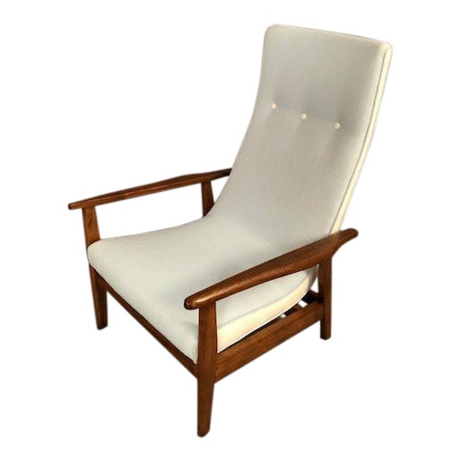 Mid-Century Highback Lounge Chair For Sale