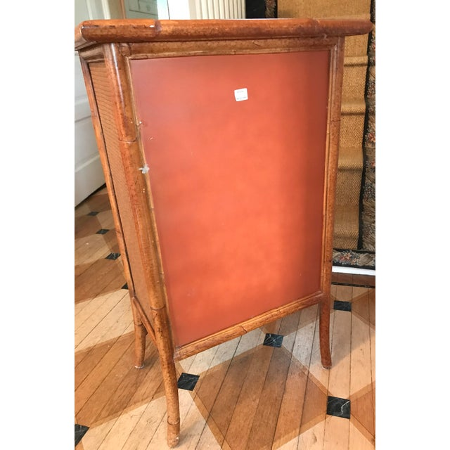 Wicker and Bamboo Maitland Smith Cabinet - Image 6 of 9